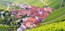 Village of Eschendorf in a wine-growing district in Franconia (Germany)